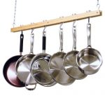 Cooks Standard Ceiling Mounted Wooden Pot Rack, Si…