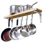 Cooks Standard Wall Mounted Wooden Pot Rack, 36 by…