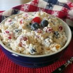 Red, White, and Blue Fruit Pasta Salad Recipe
