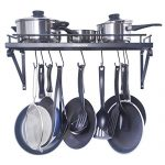 ZESPROKA Kitchen Wall Pot Pan Rack,With 10 Hooks,B…