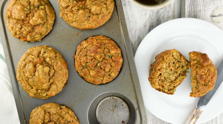 Zucchini Carrot Muffins - Slender Kitchen