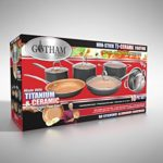 Gotham Steel 10-Piece Nonstick Frying Pan and Cook…