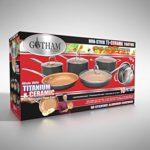 Gotham Steel 10-Piece Nonstick Frying Pan and Cook…