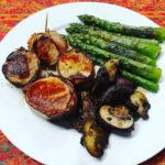 #whole30 #day3 #pork #asparagus #mushrooms #cleanf…