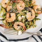Pesto Shrimp with Zucchini Noodles