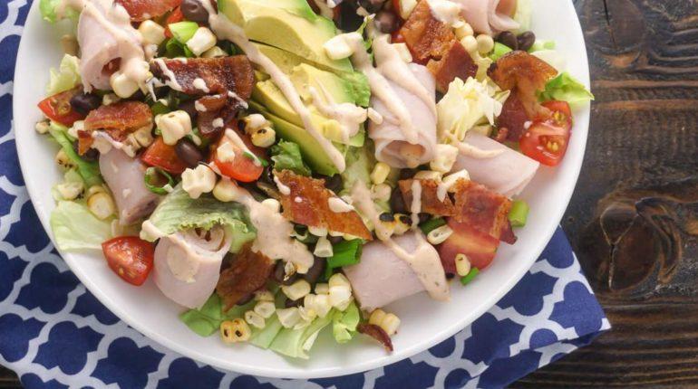 Southwestern Turkey BLTA Salad - Slender Kitchen