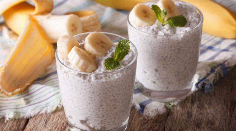 Banana Coconut Chia Seed Pudding