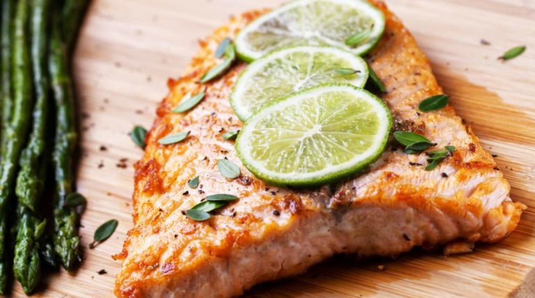 Spicy Salmon with Ginger, Chili, and Lime