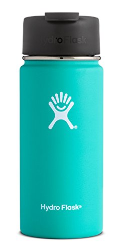 Hydro Flask 16 oz Double Wall Vacuum Insulated Stainless Steel Water Bottle/Travel Coffee Mug, Wide Mouth with BPA Free Hydro Flip Cap, Mint
