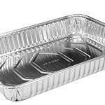"Handi-Foil 13"" x 9"" Oblong Aluminum Foil Disposable Cake Pan – REF # 394 (Pack of 50)"