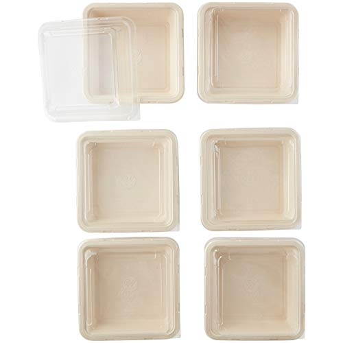 Wilton Disposable Square Baking Pans With Lids, 6-Count