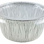 Pactogo 4 oz. Aluminum Foil Cup w/Clear Plastic Lid – Disposable Utility/Cupcake/Ramekin/Muffin Baking Tins (Pack of 200 Sets)