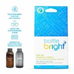 Bottle Bright (12 Tablets) – All Natural, Biodegradable, Chlorine & Odor Free Water Bottle & Hydration Pack Cleaning Tablets