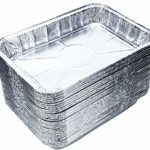 "DOBI (20-Pack) Toaster Oven Pans – Disposable Aluminum Foil Toaster Oven Pans, Standard Size – 8 1/2"" x 6"""