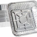 "10"" x 10"" Strong Aluminum Square -Poultry- Baking Pans (Pack of 20) – Great For Transporting – Disposable Silver Foil Cooking Tins – Ideal for Poultry, Coffee Cakes,"