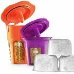 DI ORO – MaxBrew 24K Gold Keurig Accessories (1) Single K-Cup Reusable (1) K-Carafe Reusable (3) Premium Water Filters for Keurig 2.0