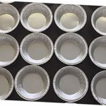 "Silver Aluminum Foil Tart Pan 3"" (Pack of 200) Disposable Mini Pie Tin"