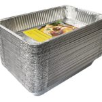 eHomeA2Z (50 Pack) Disposable Aluminum Foil Steam Table Pans for Cooking, Roasting, Broiling, Baking – 21 x 13 x 3 (50, Full-Size)