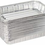 """Pack of 25 Disposable Aluminum Foil Toaster Oven Pans – Mini Broiler Pans 