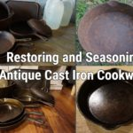 Restoring and Seasoning Antique Cast Iron Cookware (badly pitted)