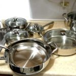 WOLFGANG PUCK/15 PIECE STAINLESS STEEL COOKWARE SET (HAUL)