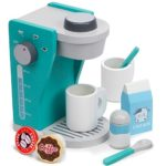 Rise & Shine Pod Capsule Coffee Maker Playset, with 2 Cups, 2 Pods, 2 Spoons, 1 Coffee Maker, Cream & Sugar (9 Pcs.) by Imagination Generation