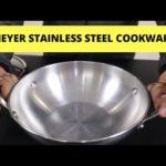 स्टेनलेस स्टील की कड़ाही |  Meyer Stainless Steel Cookware | kadai Review India | Pros Cons | Hindi
