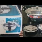 Unboxing Vinod intelligent cookware    VINOD STAINLESS STEEL KADAI    New addition in my kitchen