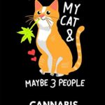 Cannabis Journal: Cannabis Review & Rating Journal / Log Book. I Like Weed & My Cat. Great Cannabis Accessories & Novelty Gift Idea for medical & personal cannabis tasting.