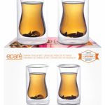 Eparé Turkish Tea Cups – Set Of Two – Double-Walled Glass Tea Cup – Coffee Mug – Espresso – Cappuccino Beverages Cup