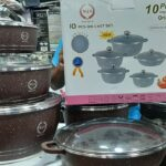 Top 10 piece Imported Non-Stick Ceramic Coated Crockery||Cookware Set Prices in BD