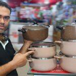 থাইল্যান্ডের নন-স্টিক কুকওয়্যার সেট   Miyako Non-Stick Cookware Set   Ceramic Coating Set Price