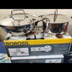 Borosil stainless steel cookware|| kadai / saucepan review || Amazon cookware haul