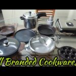 My updated Branded Cookware Collection/Cast iron/stainless steel/Vinod legacy,Meyer,Lodge,Prestige
