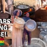 WORKING IN GHANA  GHANAIAN TEACHES THE PROCESS OF MAKING ALUMINIUM COOKWARE IN GHANA  LIFE IN AFRICA