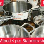 Vinod Stainless Steel Cookware Set Review | Sandwich Bottom & Heavy Gauge Steel Cookware